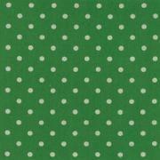 """Linen Mochi Dot (Grass) 70% cotton/30% linen, lightweight canvas, 44/45"""" wide"""