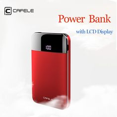 CAFELE 5000mAh Power Bank Dual USB Output External Battery Charger LCD Display Charger for iphone Huawei Xiaomi Charging  Price: $ 32.99 & FREE Shipping   #rc #security #toys #bargain #coolstuff #headphones #bluetooth #gifts #xmas #happybirthday #fun