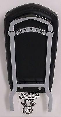 Harley Davidson OBSOLETE Insert Style Sissy Bar Upright & Smooth Backrest Pad
