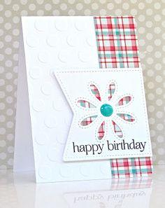 Pretty Periwinkles: CAS(E) this Sketch - Geprägte karten Handmade Birthday Cards, Happy Birthday Cards, Birthday Greetings, Birthday Wishes, Happy Birthdays, Making Greeting Cards, Greeting Cards Handmade, Making Cards, Karten Diy
