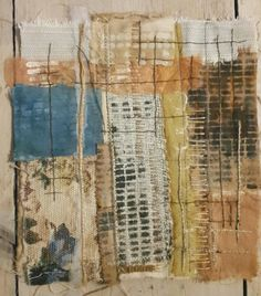 Julia Wright Jewellery: Patchwork, embroidery and print Sculpture Textile, Textile Fiber Art, Textile Artists, Collages, Collage Art, Nature Collage, Textiles Sketchbook, Contemporary Embroidery, A Level Art
