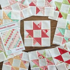 I also can't get these Scrumptious Candy Stripe blocks @angbrandl has been making out of my head. Can't wait to see this one together! (PS- have you SEEN her sewing room?! ) #candystripesquilt