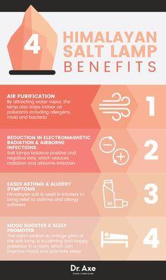 Himalayan salt lamp benefits - Dr. Axe http://www.draxe.com #health #holistic #natural