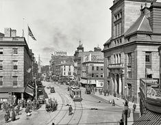 Main Street in Fall River, Massachusetts 1920