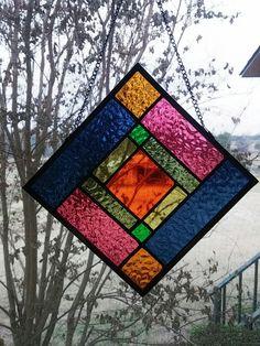Beginner stained glass suncatcher.