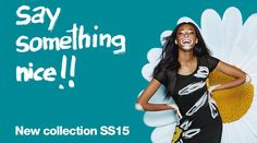 The Desigual tag line for the Spring-Summer 2015 collection: Say Something Nice!