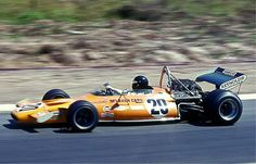 Peter Gethin driving the McLaren M19A, during the 1971 German Grand Prix ...