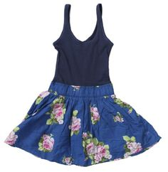 Abercrombie & Fitch Women's Floral Tank Dress (blue Floral) (small)