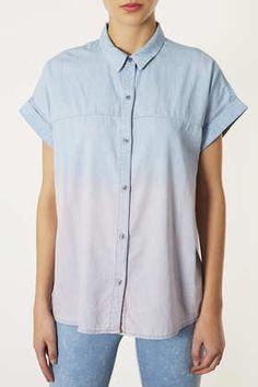 MOTO Dip Dyed Denim Shirt #dipdye #topshop #shirt