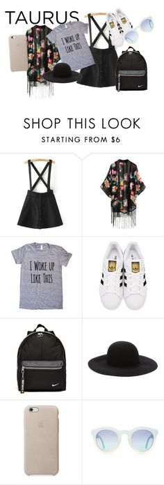 """""""Taurus"""" by izzybellah-1 on Polyvore featuring adidas Originals, NIKE and Forever 21"""
