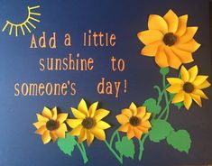 Sunflower Bulletin Board Set - Check out my shop! Sunflower Bulletin Board Set - Check out my shop! Office Bulletin Boards, Christian Bulletin Boards, Summer Bulletin Boards, Preschool Bulletin Boards, Classroom Bulletin Boards, March Bulletin Board Ideas, Bulletin Board Ideas For Teachers, Kindness Bulletin Board, Summer Bulliten Board Ideas