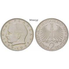 Bundesrepublik Deutschland, 2 DM 1967, Planck, G, vz, J. 392: Kupfer-Nickel-2 DM 1967 G. Planck. J. 392; vorzüglich 20,00€ #coins