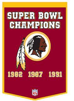 Washington Redskins Super Bowl Banner