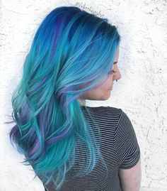 """716 Likes, 7 Comments - ISA Professional (Isabel Murphy.professional) on Instagram: """"Gorgeous pastel mermaid hair by @violetthestylist! #hair #hairinspo #hairgoals #hairenvy #bluehair…"""""""