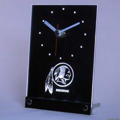 Washington Redskins LED Table Clock