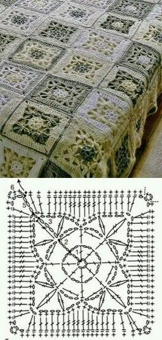 Transcendent Crochet a Solid Granny Square Ideas. Inconceivable Crochet a Solid Granny Square Ideas. Crochet Squares, Point Granny Au Crochet, Crochet Motifs, Crochet Blocks, Granny Square Crochet Pattern, Crochet Diagram, Crochet Chart, Crochet Patterns, Knitting Patterns