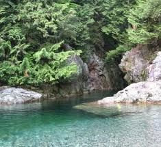 Lynn Canyon, North Vancouver, British Columbia.  I spent practically every hot summer day here, jumping off the cliffs into the icy, glacier fed water, and tanning on the rocks.