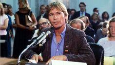 At PMRC hearings, Washington, 1985