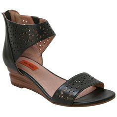 Buy Green Cream Tobacco Black Miz Mooz Women's Pasadena Wedge Sandal shoes