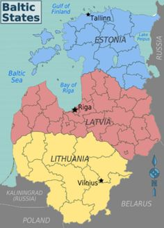 map of the Baltics