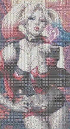 Harley Quinn perler pattern #2 by pjurst