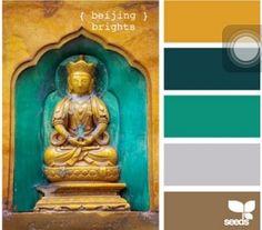 Mustard/turquoise ideal color scheme. #mine