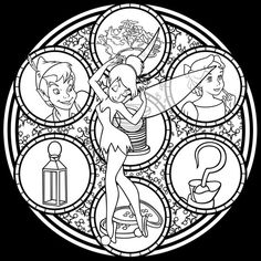 Free to color! Just credit me for the design! Colored version: [link] Other coloring pages and other things to use: [link] Tinkerbell Stained Glass -line art- Disney Princess Coloring Pages, Disney Princess Colors, Disney Colors, Tinkerbell, Disney Stained Glass, Mandalas Drawing, Coloring Book Pages, Princesas Disney, Coloring For Kids
