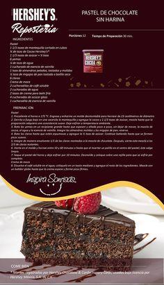 Hoy compartimos contigo una deliciosa receta preparada con nuestra Cocoa Hershey's®. #Hersheys #Chocolate #InspiraSonrisas #Repostería #Postres #Receta #DIY #Bakery #Pastel Köstliche Desserts, Chocolate Desserts, Delicious Desserts, Dessert Recipes, Yummy Food, Macarons Chocolate, Chocolate Pavlova, Chocolate Crinkles, Chocolate Chocolate