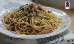 Spaghetti+integrali+con+aglio,olio+e+tonno