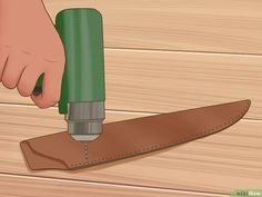 How to Make a Knife Sheath. When you keep a knife on your person, the blade should remain in a sheath when not in use. Instead of purchasing a sheath from a distributor, design and create a personalized leather knife sheath to wear on your. Knife Sheath Making, Knife Making, Diy Leather Knife Sheath, Knife Holster, Holsters, Tactical Knife, Diy Knife, Case Knives, Best Pocket Knife
