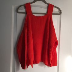 Sweater Off the shoulder orange sweater !  Sweaters