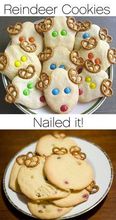 These were supposed to be easy holiday reindeer cookies to make. I got the sizing all wrong and the cookies grew and grew! At least the kiddos had fun making them.