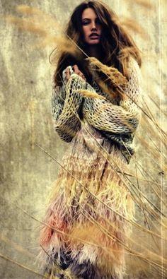 Look at those hand dyed yarns and free range knitting!