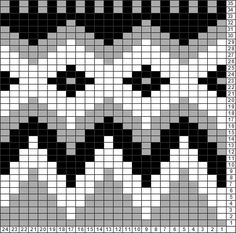 Tricksy Knitter Charts: Yoke pattern flame by nicolana111