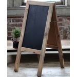 Weathered Wood Double Sided Chalkboard Easel
