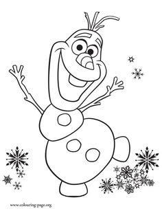 olaf - Toddler Coloring Page
