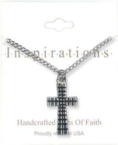 Flat Detailed Cross Necklace