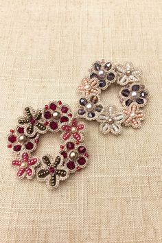 Tatting lace brooch / applique pdf pattern Flower Wreath