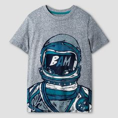Boys' Astronaut Graphic T-Shirt Cat & Jack™ - Heather Gray : Target