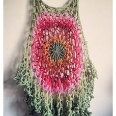Possibly my favorite yet! Added extra flouncy rows at the bottom to make it a Crochet Scarves, Crochet Clothes, Crochet Sweaters, Top Pattern, Free Pattern, Free Crochet, Knit Crochet, Crochet Books, Yarn Crafts