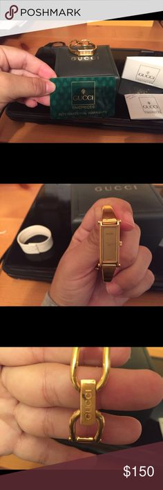 Gucci Watch. - 1500L 18KT Gold Yellow - gold-plated Gucci 1500L Horsebit Watch -  includes original box and paperwork  - this watch is a genuine Gucci.    This watch was give to me by someone.  I never wore it but he purchased it for me because I collected watches. Gucci Jewelry