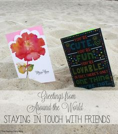 Load up on cards before studying abroad! Great idea!  Greetings From Around the World | The Darling Daily