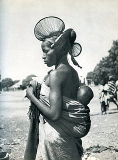 Africa | Just one of the many lovely images from the publication Parures africaines  published in 1956.