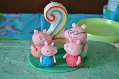 peppa pig party - cake topper