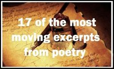 17 Of The Most Powerful Excerpts From Poetry - Writers Write