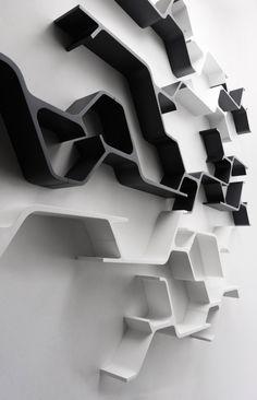 sinapsi modulares wandregal horm weiß schwarz lack