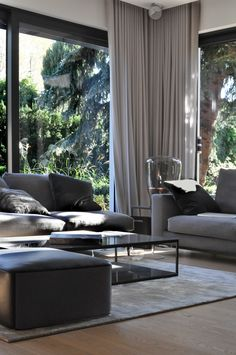 [New] The 10 Best Home Decor Today (with Pictures) - Fabrics & curtains Minimalism Modern Interior Design, Interior Architecture, Living Room Interior, Living Room Decor, Inside A House, Deco Design, Living Room Designs, New Homes, House Design