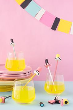 5 minute DIY: licorice all sorts drink stirrers