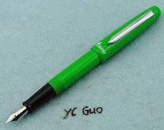 2014 Duke New Model Uranus U78G Fountain Pen Medium Nib With Screw Cap Green #Duke