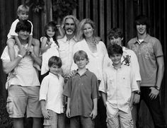 """Graceful Moments-a blog from a fan... """"This is Guy and Angie Penrod with their eight children---seven boys and one little girl, Lacey. A beautiful family."""""""